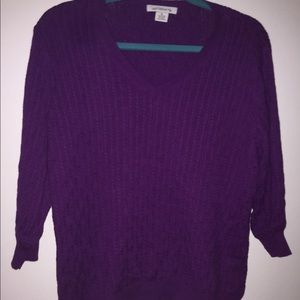 Liz Claiborne xl purple sweater